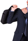 Businessman suffering from shoulder pain. Royalty Free Stock Photography