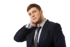 Businessman suffering from toothache. Stock Images