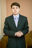 Businessman in a suit Royalty Free Stock Photography