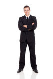 Businessman suit arms crossed Royalty Free Stock Photography
