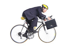 Businessman in a suit with a briefcase Stock Photos