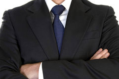 Businessman in suit with crossed arms Royalty Free Stock Photo