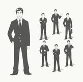Businessman in suit. Different  poses Stock Photography