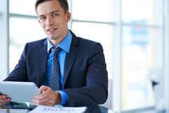 Businessman in suit Royalty Free Stock Photography