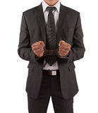 Businessman in suit and handcuffs Royalty Free Stock Photo