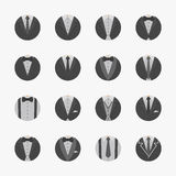 Businessman Suit Icons with White Background Royalty Free Stock Images