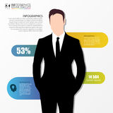 Businessman in suit. Infographics design template. Vector Stock Photography