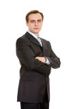 Businessman in a suit. Isolated on white. Stock Photography
