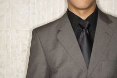 Businessman in Suit and Necktie Stock Photo