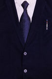 Businessman suit with a pen in the pocket.  Royalty Free Stock Photography