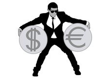 Businessman in suit three Royalty Free Stock Photo