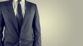 Businessman in a suit, torso view Stock Photo