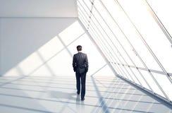 Businessman in suit walking Royalty Free Stock Image