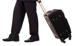 Businessman with suitcase Royalty Free Stock Image