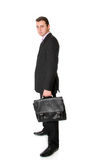 Businessman with the suitcase Stock Images