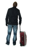 Businessman with a suitcase Royalty Free Stock Photo