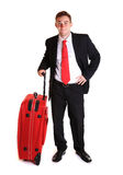 Businessman with suitcase Stock Photos