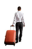 Businessman with suitcase Royalty Free Stock Photo