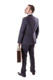 Businessman with suitcase Stock Photos