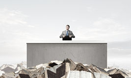 Businessman with suitcase Stock Photo