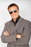 Businessman in sunglasses royalty free stock images
