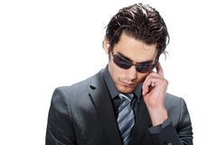 Businessman with sunglasses Royalty Free Stock Photo