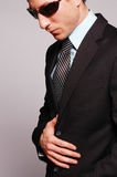 Businessman with sunglasses Royalty Free Stock Photography