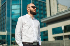 Businessman in sunglasses Royalty Free Stock Photo
