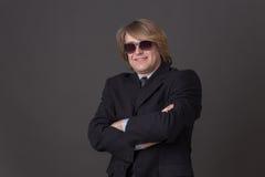 Businessman in sunglasses Stock Image
