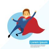 Businessman Super Hero Chartoon Fly Stock Photography