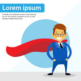 Businessman Super Hero Chartoon Wear Suit Red Cape Royalty Free Stock Images