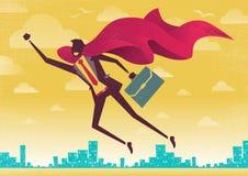 Businessman is a Superhero. Royalty Free Stock Photo