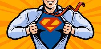 Superhero. Vector illustration in style comic pop art. Businessman or superhero. Vector illustration in comic pop art vector illustration