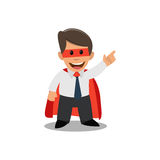 Businessman superman. Businessman in a superhero costume. Royalty Free Stock Image
