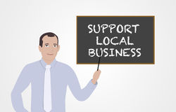 Businessman supporting local marketing Royalty Free Stock Photos