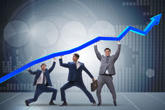 The businessman supporting recovery from economic crisis. Businessman supporting recovery from economic crisis Stock Image