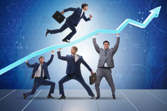 The businessman supporting recovery from economic crisis Royalty Free Stock Photo