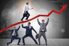 The businessman supporting recovery from economic crisis Royalty Free Stock Images