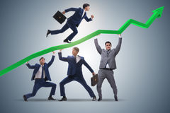 The businessman supporting recovery from economic crisis Stock Photos