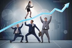 The businessman supporting recovery from economic crisis. Businessman supporting recovery from economic crisis Stock Images