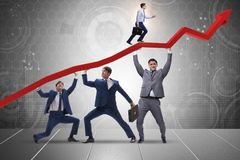 The businessman supporting recovery from economic crisis Stock Photo