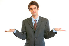 Businessman with surprise expression on his face Stock Photo