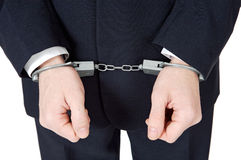 Businessman swindler. A businessman swindler a over white background Royalty Free Stock Images