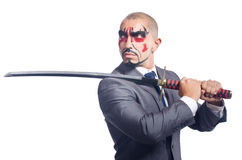 Businessman with sword Royalty Free Stock Photography