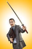 Businessman with sword Stock Image