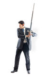 Businessman with sword 2 Royalty Free Stock Images