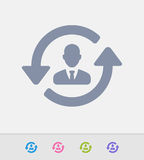 Businessman & Sync Arrows - Granite Icons Royalty Free Stock Images