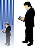 Businessman with a tablet Stock Image