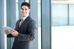 Businessman tablet computer Royalty Free Stock Image