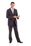 Businessman tablet computer Stock Image